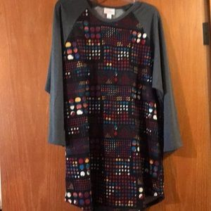 LuLaRoe Randy Colorful Dotted Pattern Size XL